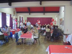 A party at Beoley Village Hall